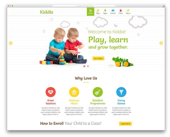 Kiddie - Thiết kế kết hợp hài hòa giữa hình ảnh và nội dung