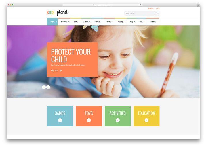 Kids Planet - Gây ấn tượng bởi các yếu tố thị giác