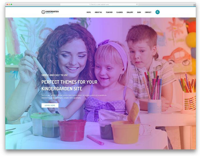 Kindergarten - Phương án để xây dựng website chuyên nghiệp