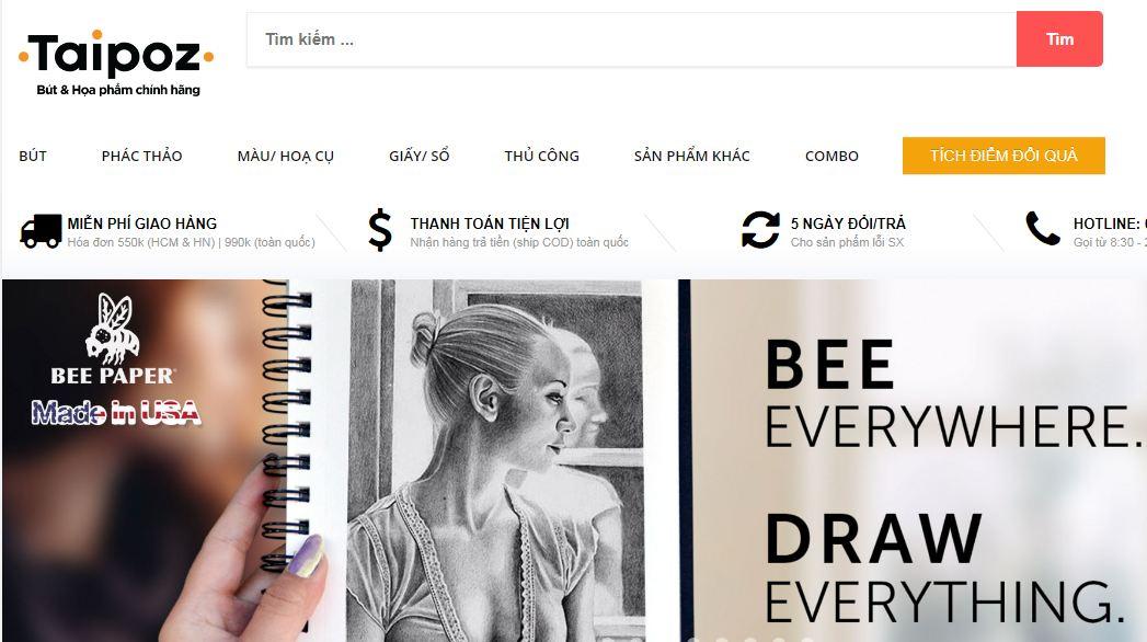 Shop bán họa cụ online Taipoz