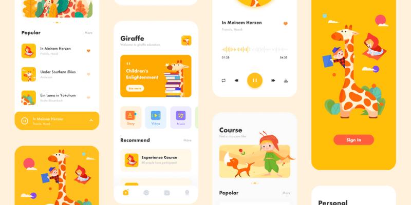 thiết kế ứng dụng di động cho trẻ em