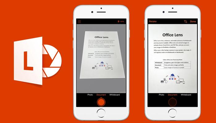 Phần mềm scan trên điện thoại - Microsoft Office Lens